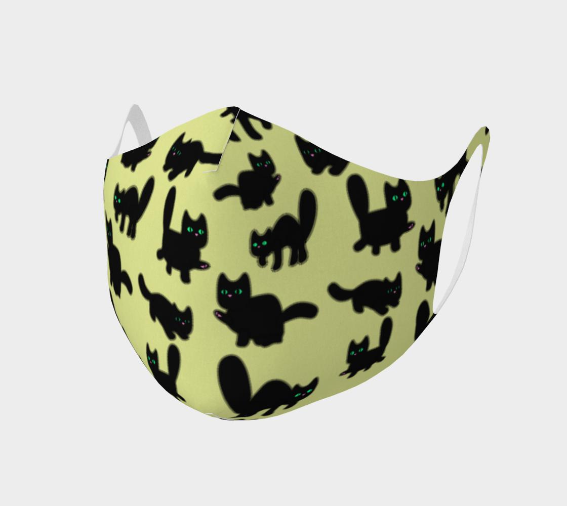 Fuzzy Kitties Black Cats Pattern (Yellow BG) preview