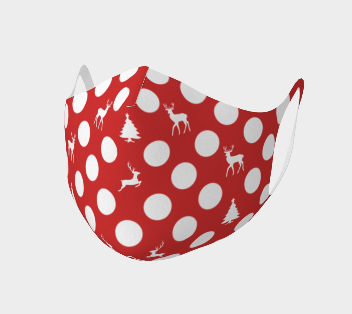 Canada Polka Dot Face Mask   Christmas Tree Reindeer preview