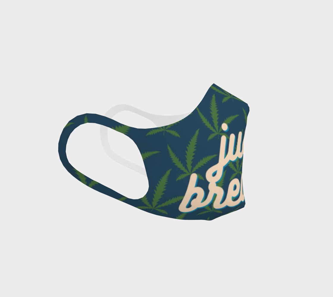 Just Breathe Marijuana Pot Leaf Stoner Washable Reusable Face Mask for Men preview #3