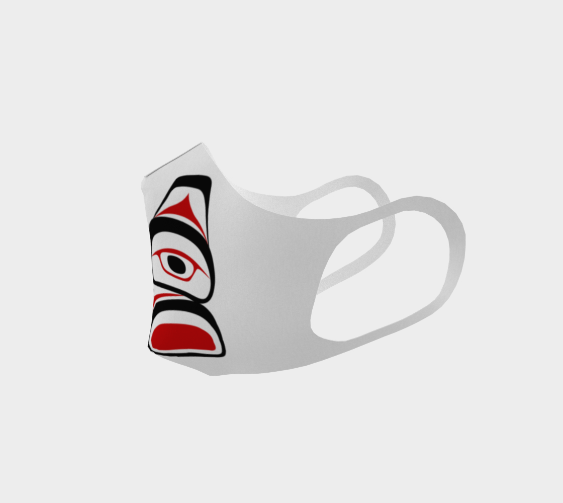 Traditional Tlingit Formline Northwest Art Double Knit Facemask on  White Background preview #2