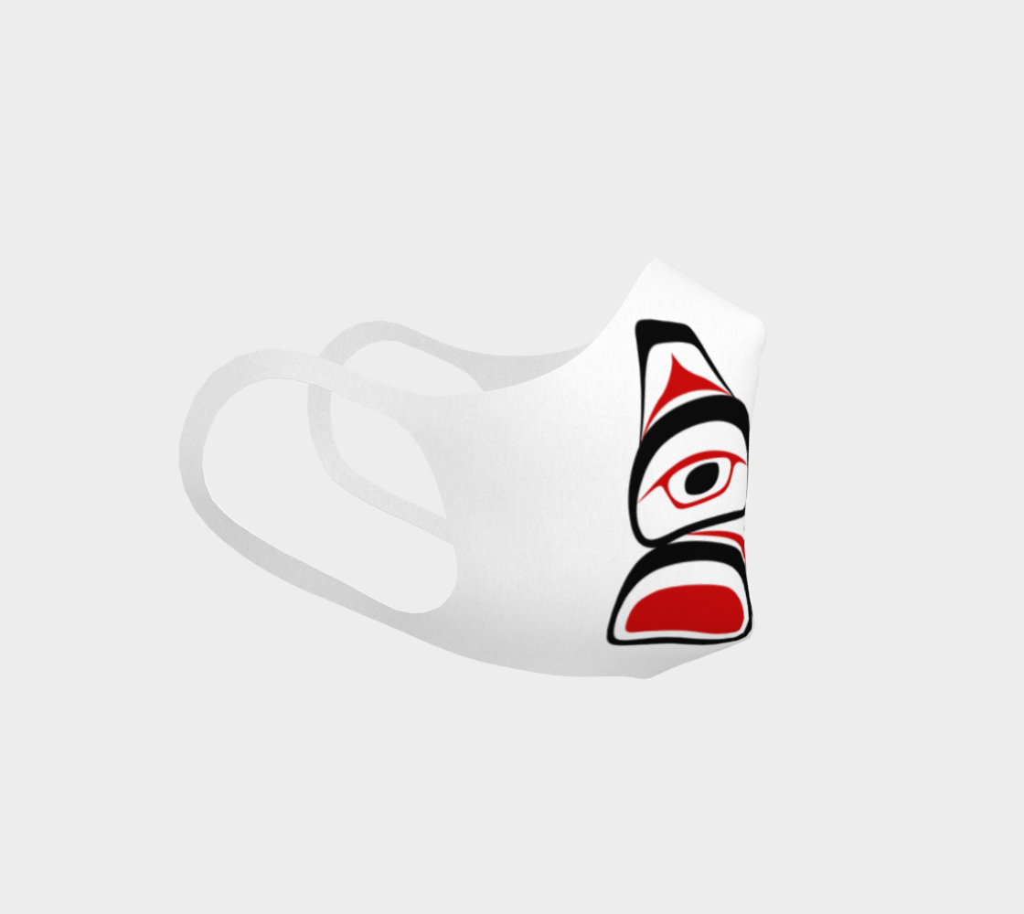 Traditional Tlingit Formline Northwest Art Double Knit Facemask on  White Background preview #3