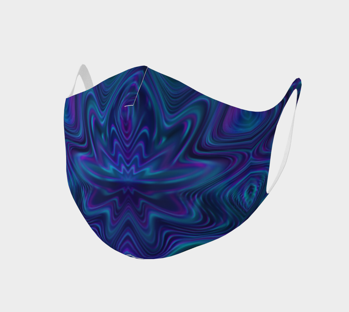 Blue Waves Face Mask preview