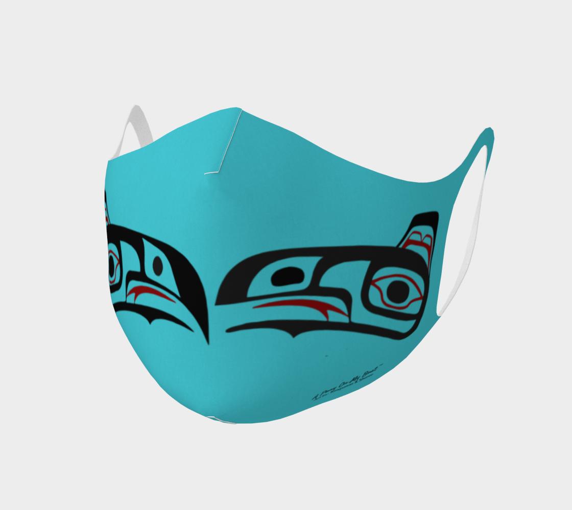 Northwest Art Tlingit Eagle Raven Polyester Facemask - Eagle Raven on Reverse preview