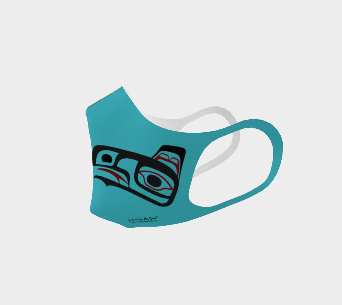 Northwest Art Tlingit Eagle Raven Polyester Facemask - Eagle Raven on Reverse preview #2