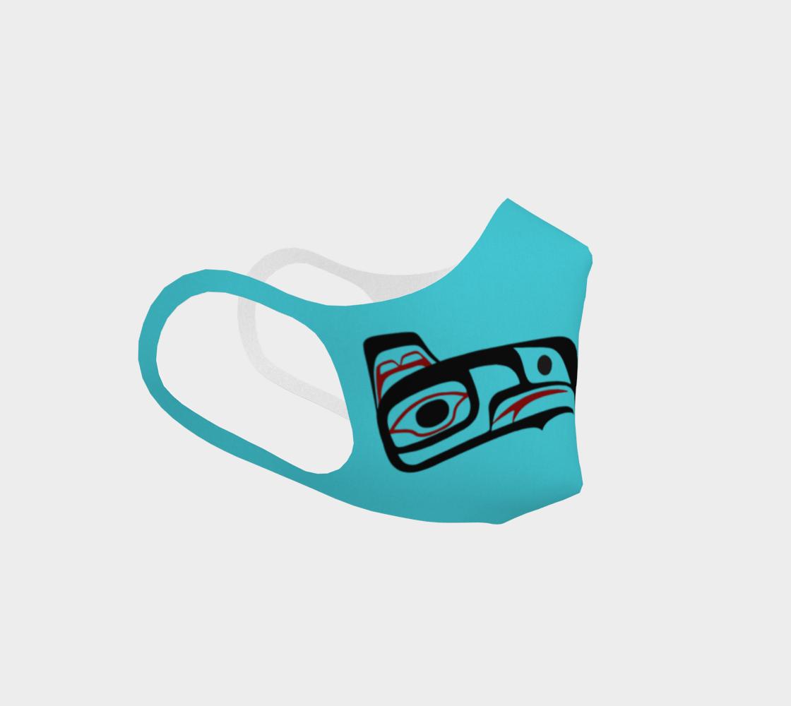 Northwest Art Tlingit Eagle Raven Polyester Facemask - Eagle Raven on Reverse preview #3
