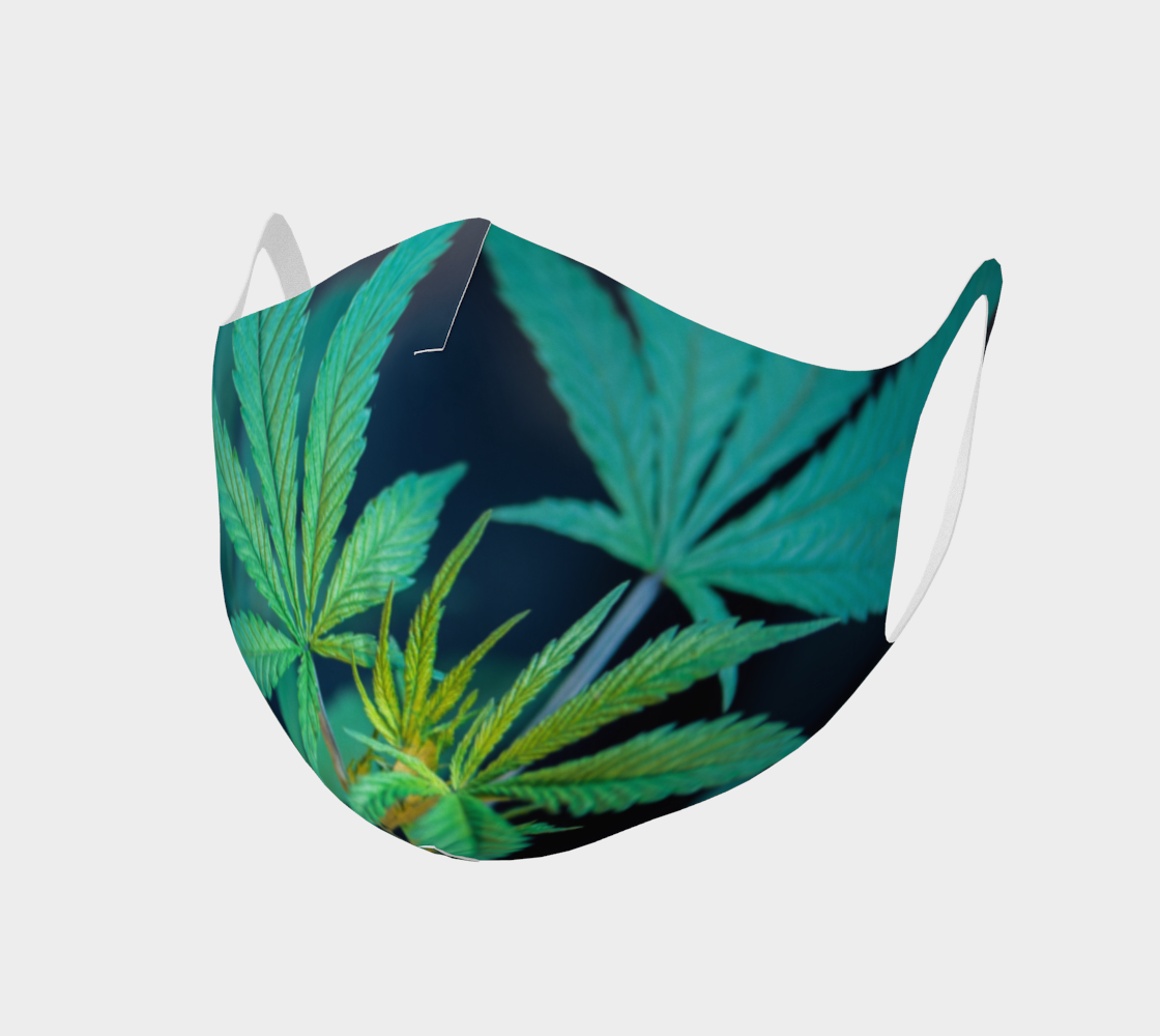 Face Mask Style 2- Cannabis Leaves preview
