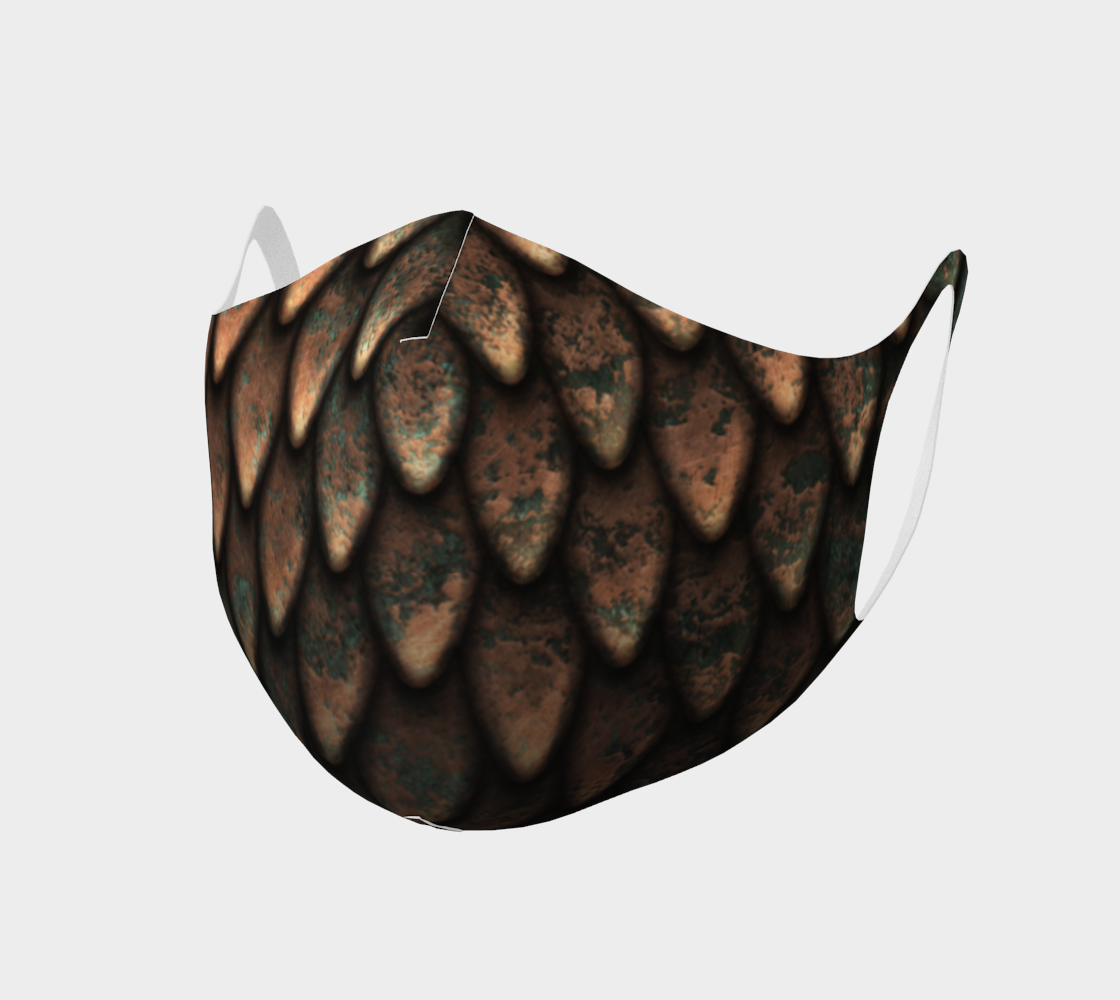 Face Mask - CopperDragonScales preview