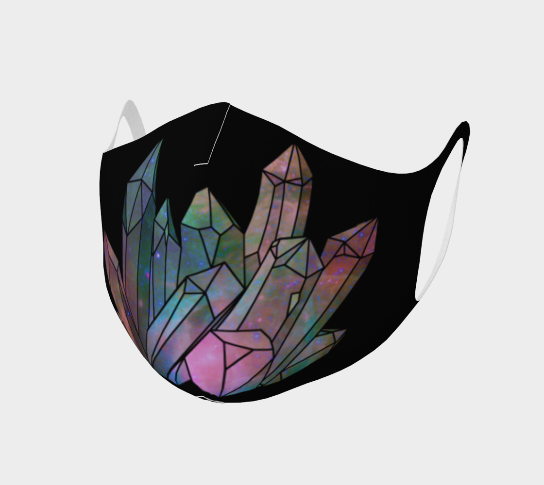 Cosmic Crystals Unicorn Rainbow Aura Fask Covering Mask AOW preview