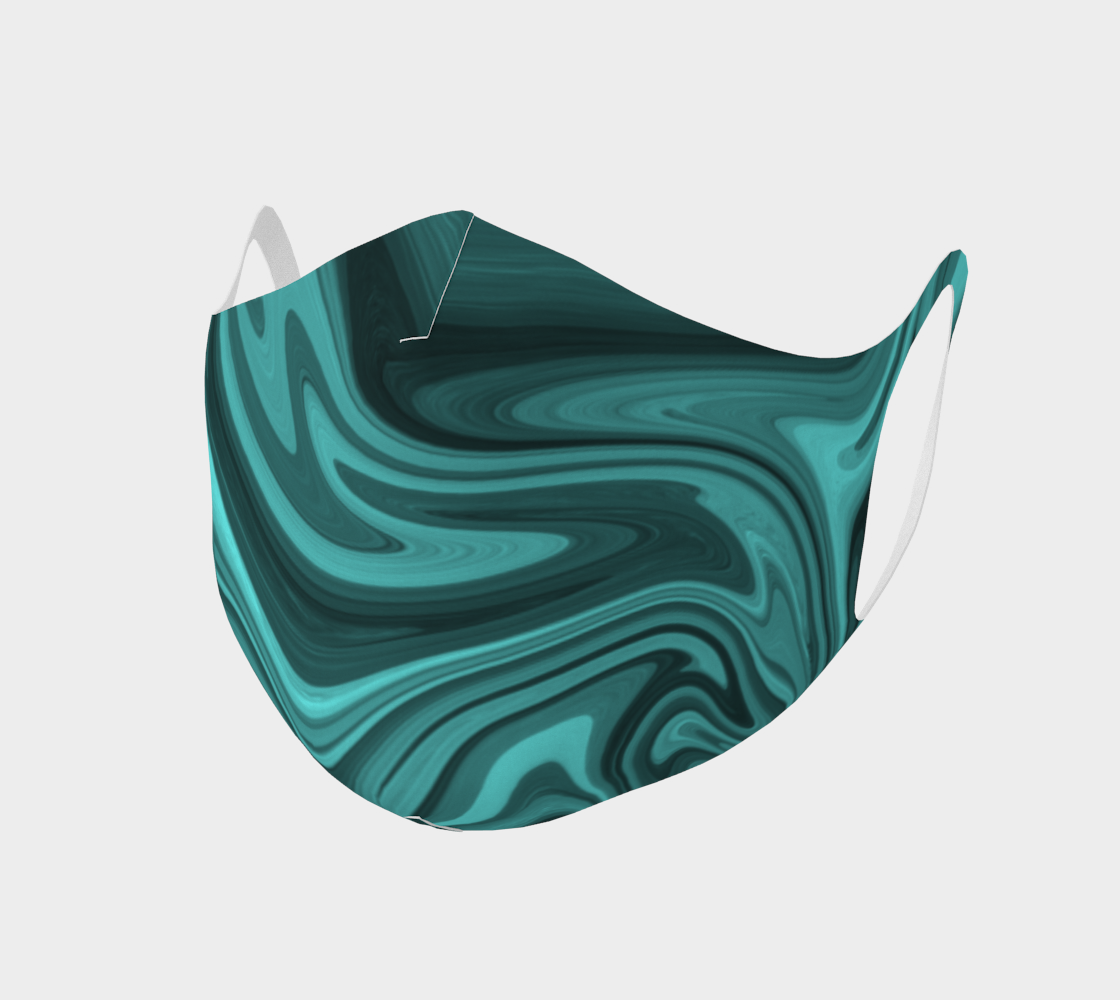 Teal Twirl Double Knit Face Covering preview