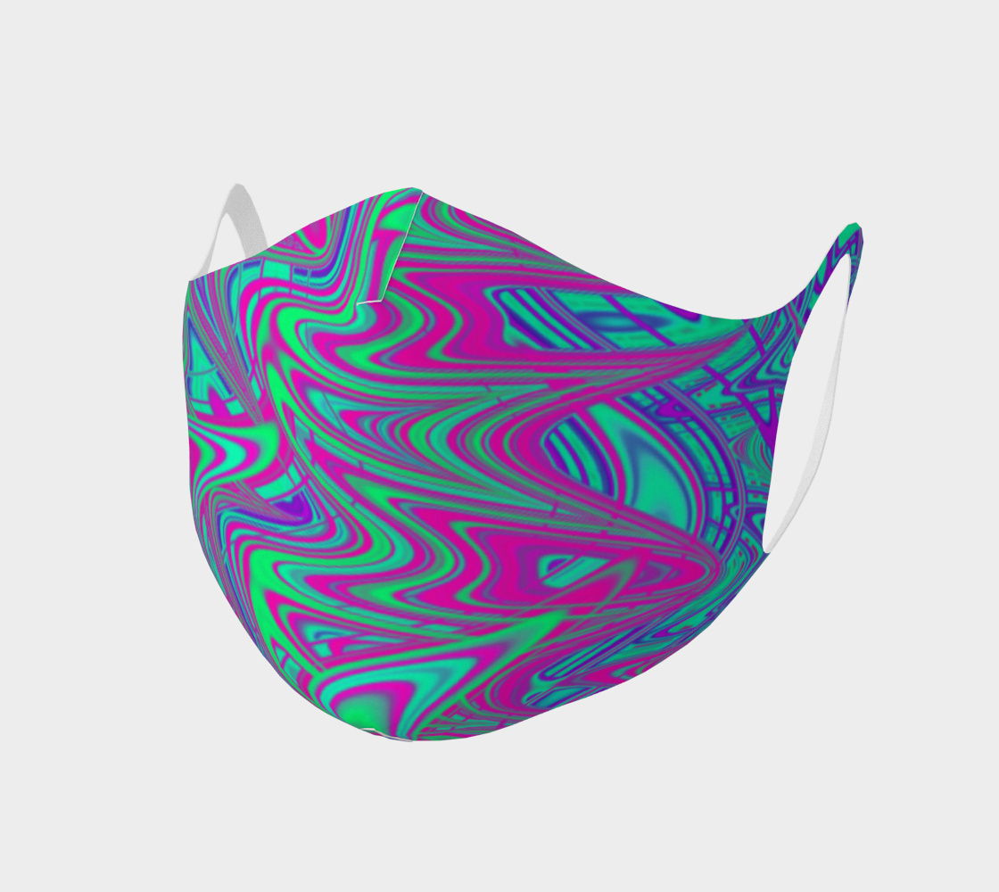 Vibrant Trippy Wavy Neon Squiggles preview