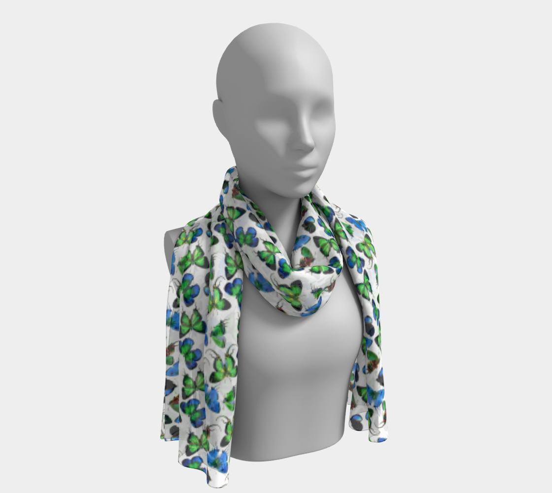 Butterfly Blue Green Scarf preview