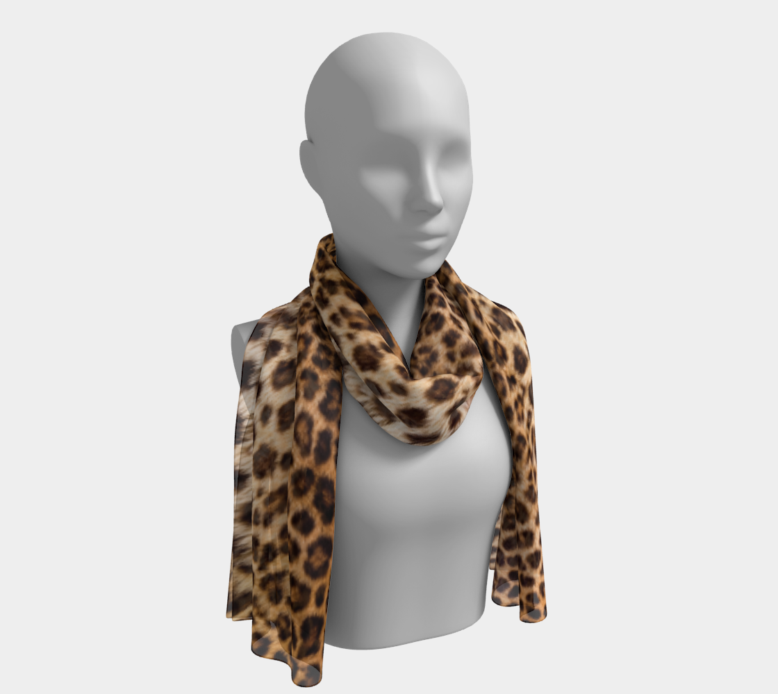 Leopard Print Scarf preview