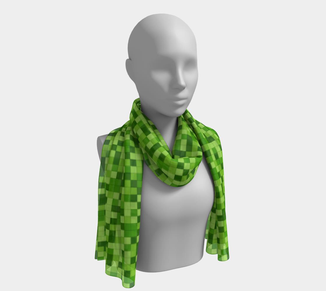 Green Blocks Pattern Gamer Scarf preview