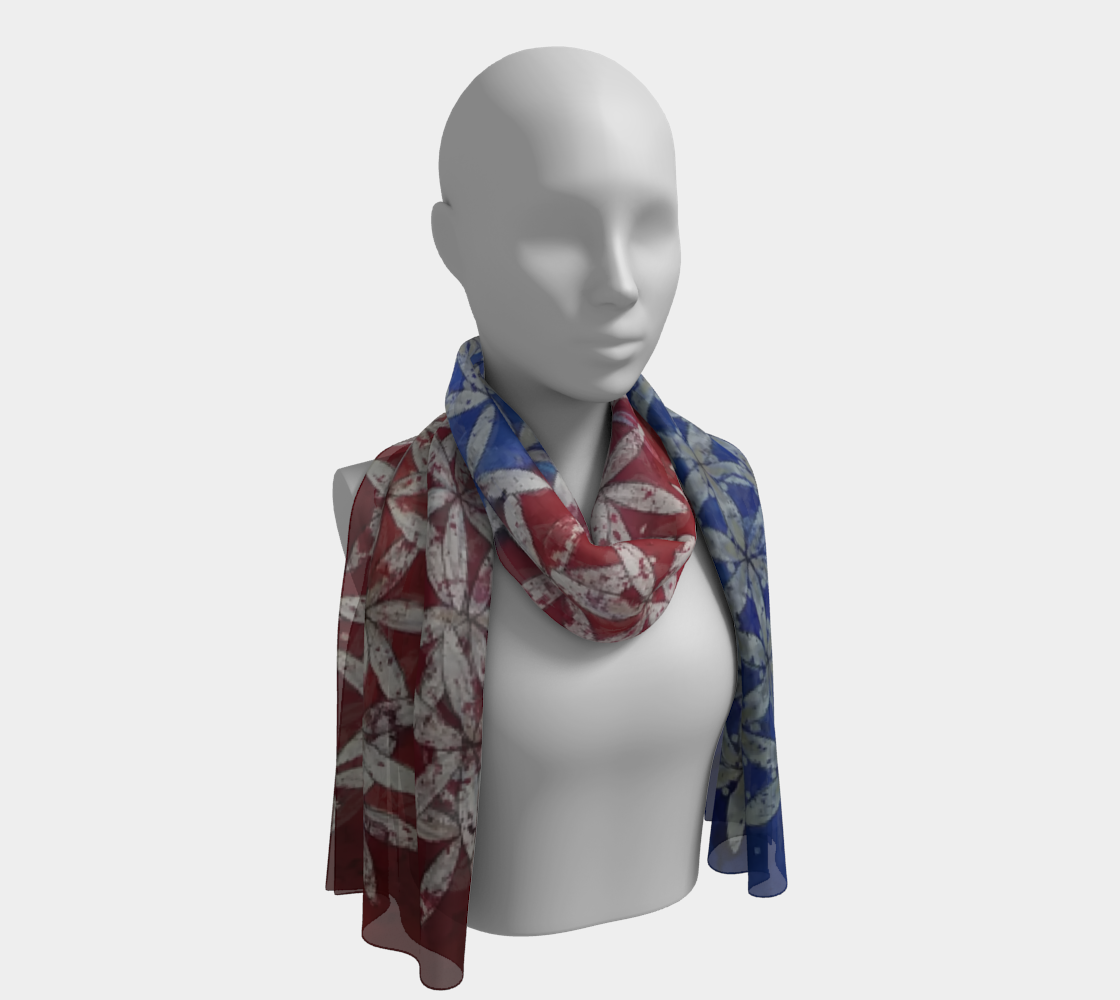 Make America Bloom Again - Flag Inspired Red White & Blue Flower of Life Scarf preview