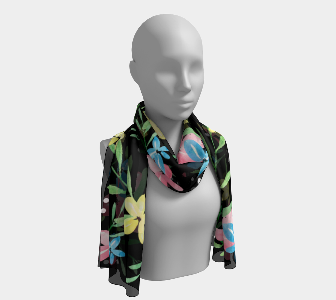 Floral Watercolor Long Scarf preview