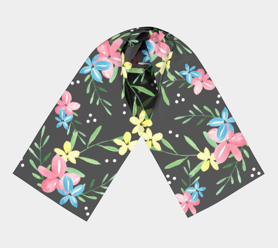 Floral Watercolor Long Scarf preview #3