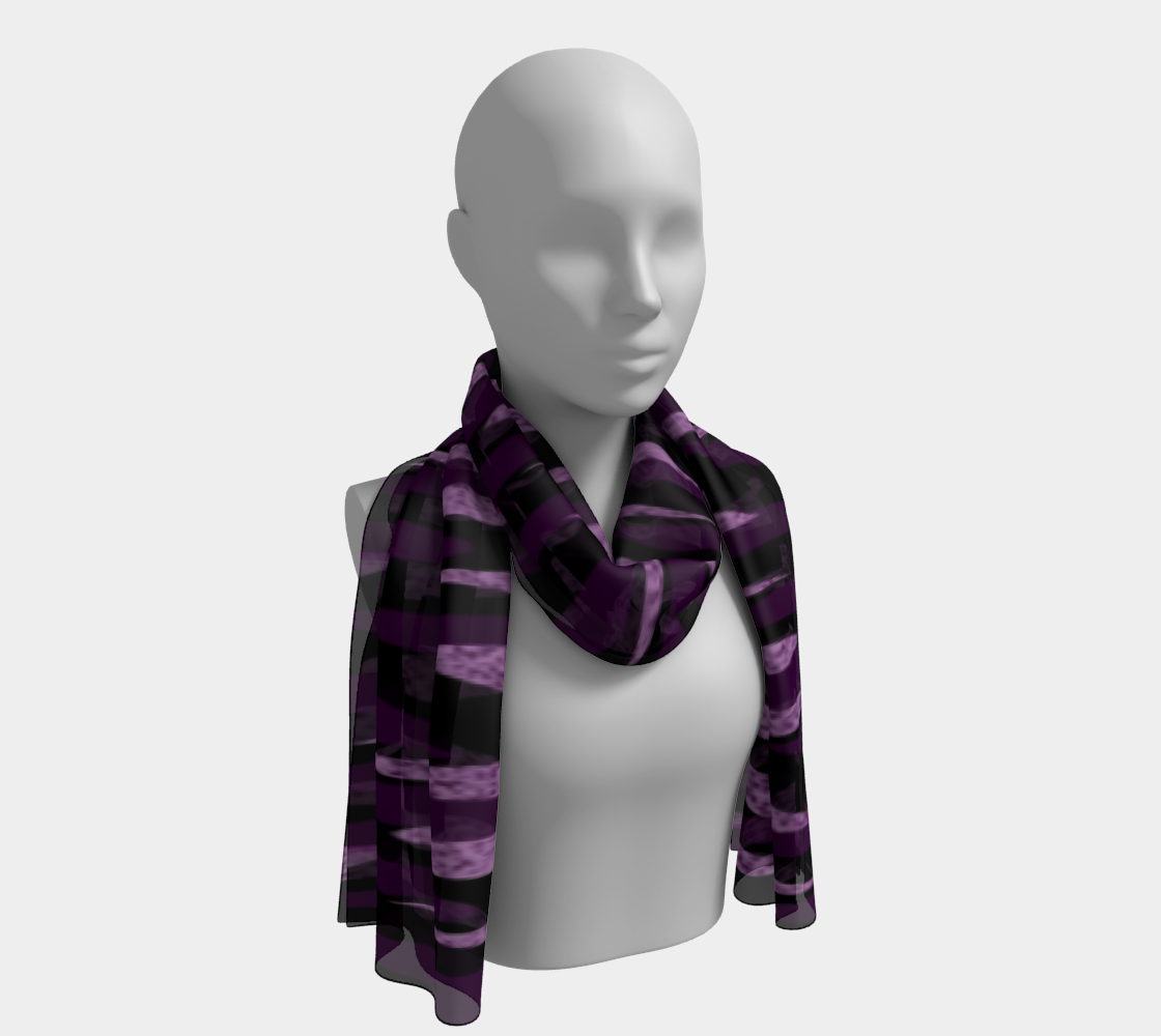 Purple Ice Abstract Long Scarf preview
