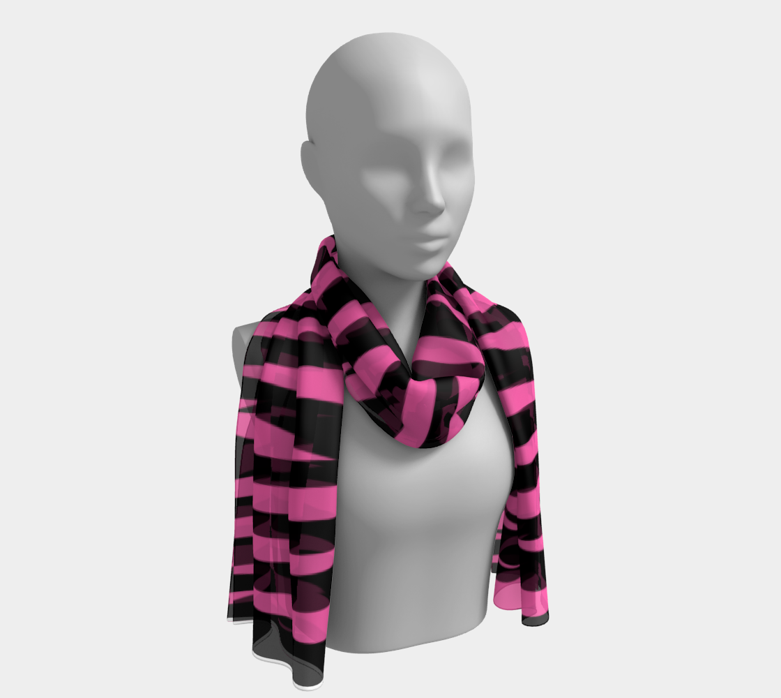 Pink and Black Ice Abstract Long Scarf preview