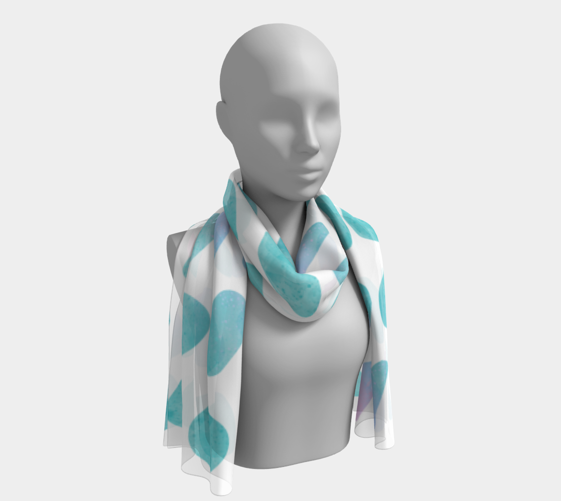 Pink and Blue Cotton Candy Long Scarf preview