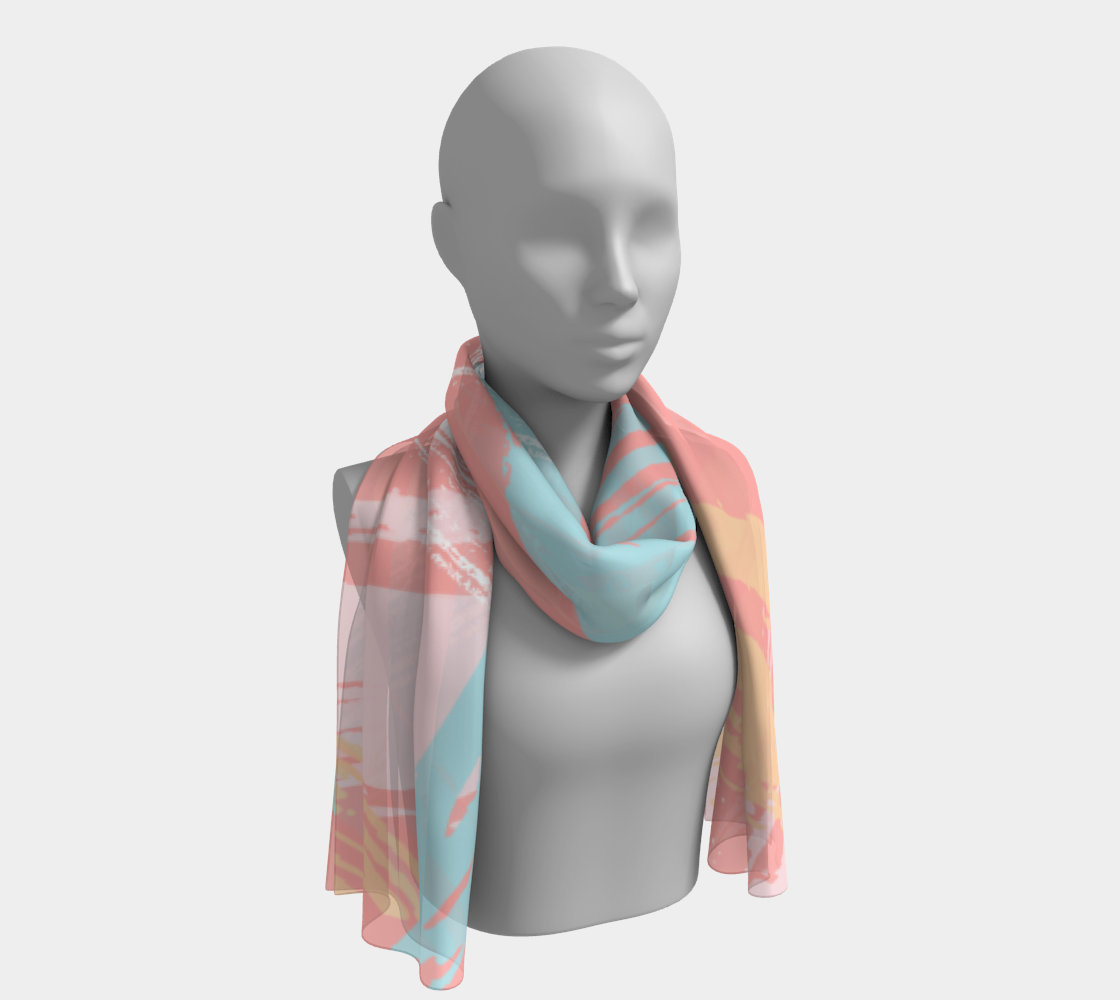 Pastel Abstract Brush Stroke Long Scarf preview