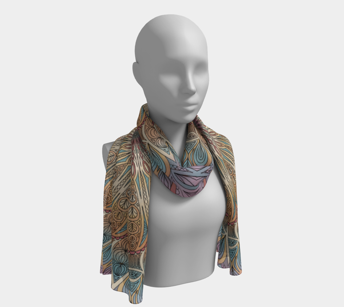 Gentle Touch Mandala Long Scarf preview