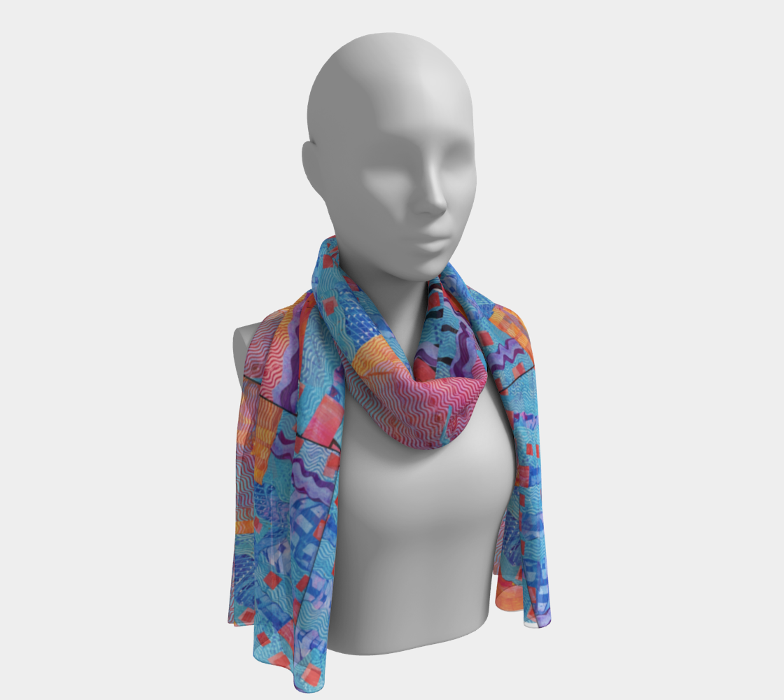 Scarf--6 feet long or short, Mixed Berry Collage preview