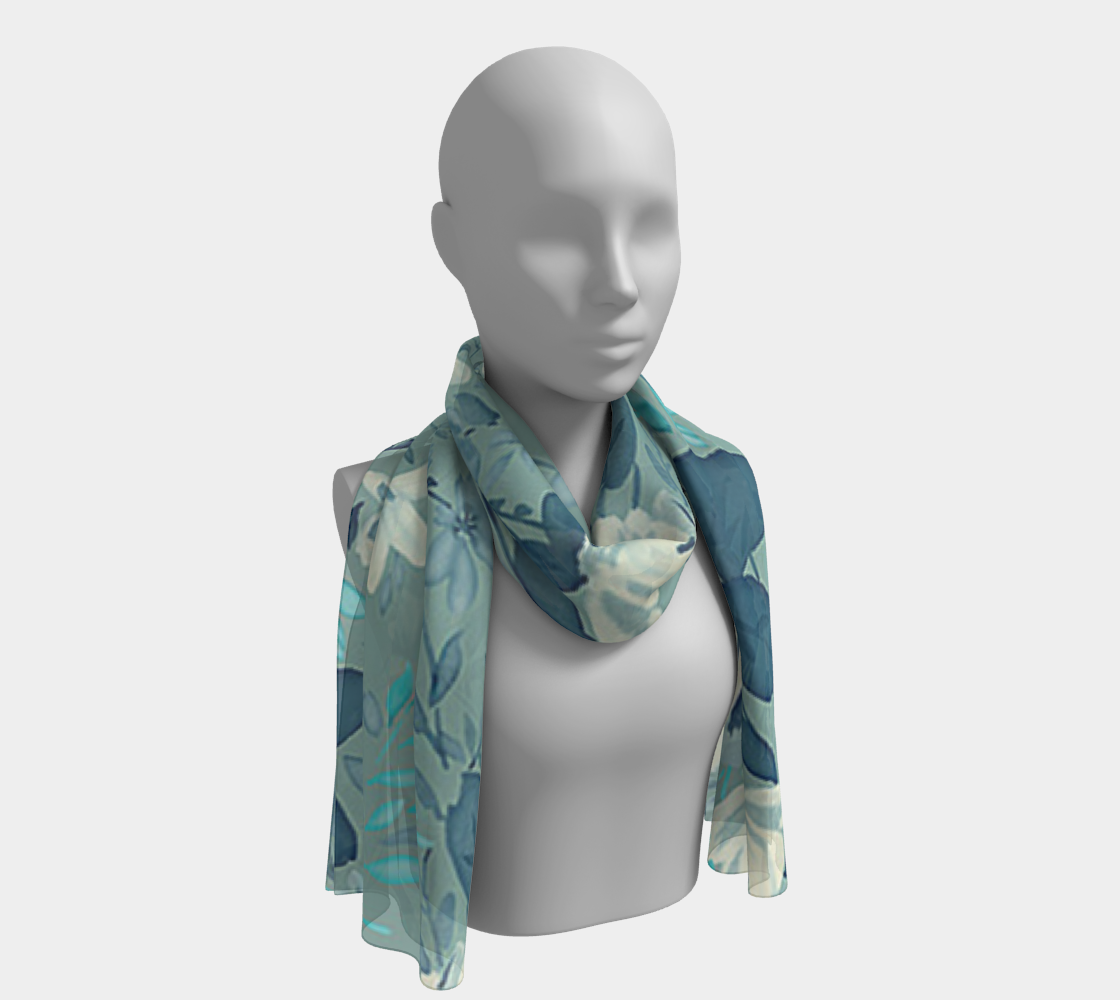 Gorgeous Vintage Floral Scarf preview