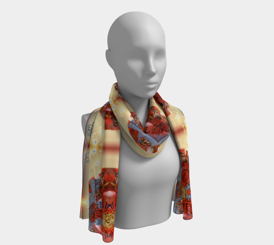 I AM BEcoming Long Silk Scarf preview