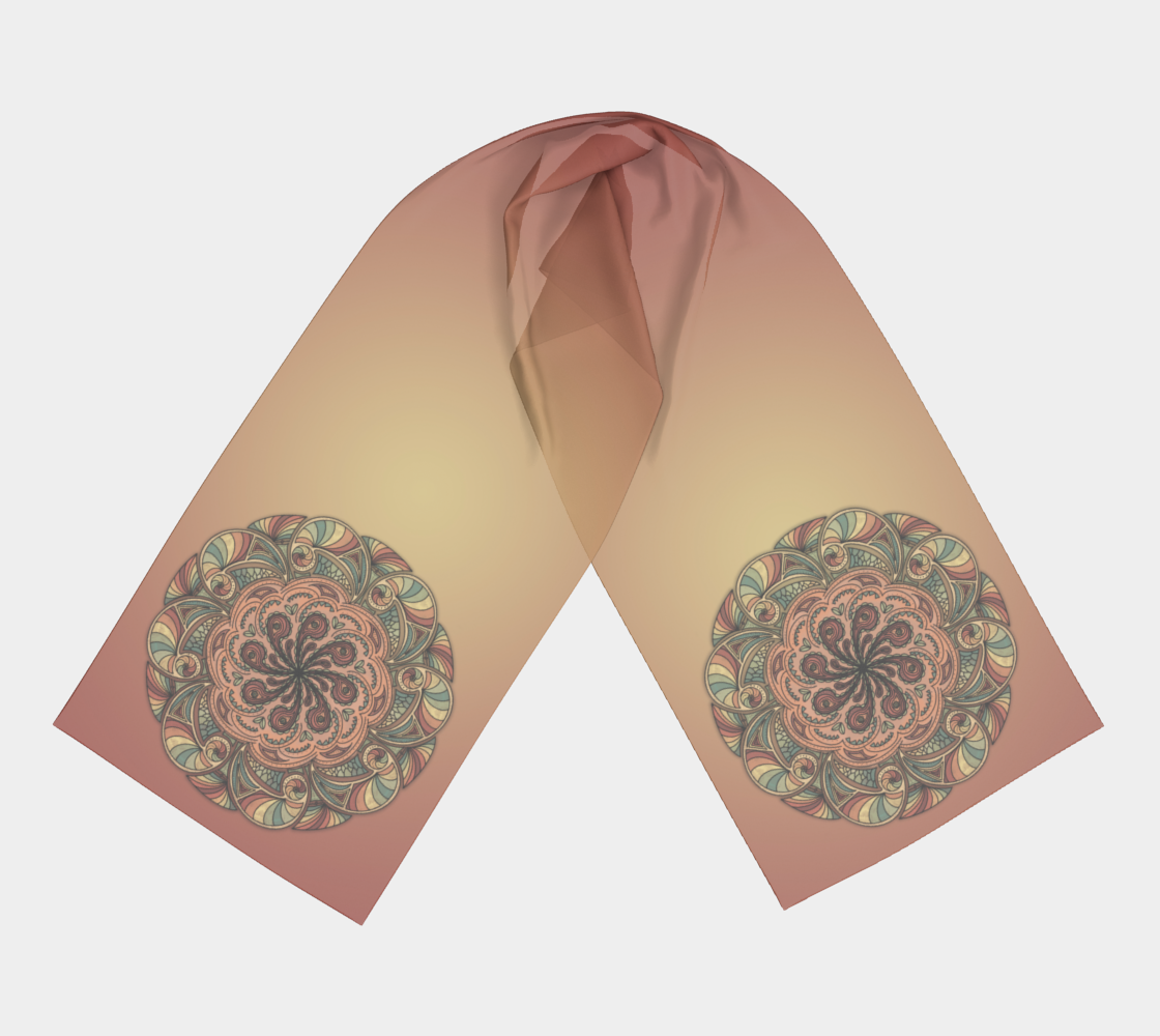 Moroccan Shells Mandala - Scarf preview #3