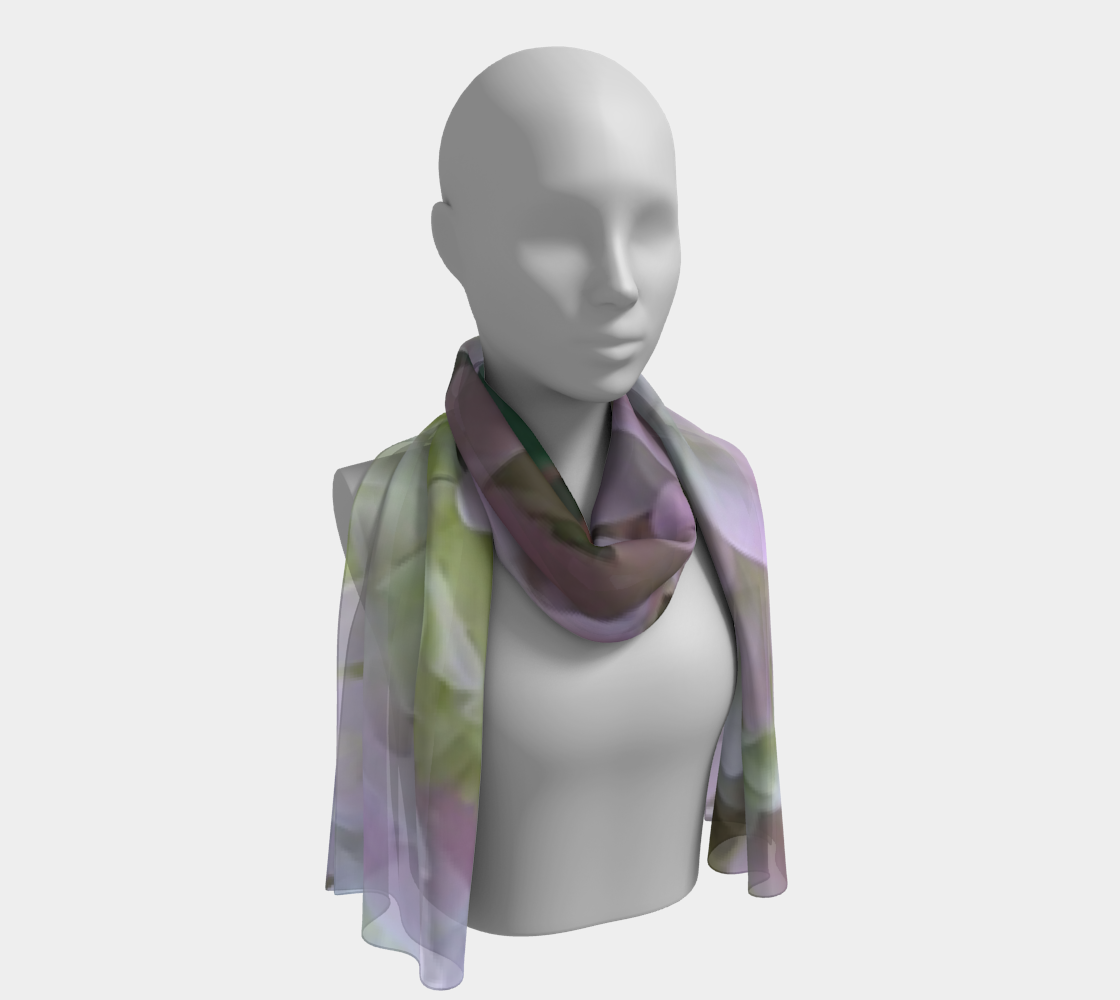 Hydrangea in Pink Long Scarf preview