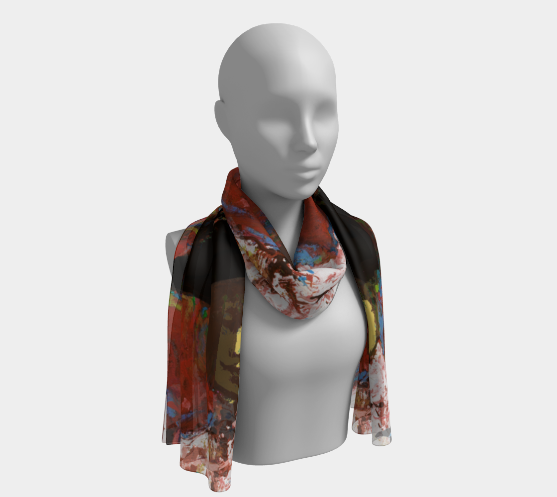 The Simone Triple-Print Museum Scarf preview