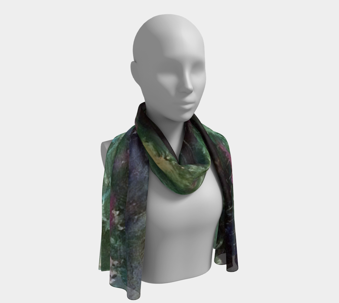The Sea at Dusk / Crashing-Wave Long Scarf preview