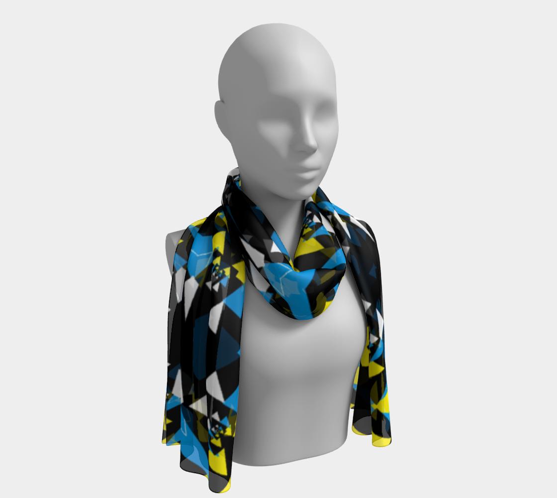 Peyo triangular yellow, blue, black print aperçu
