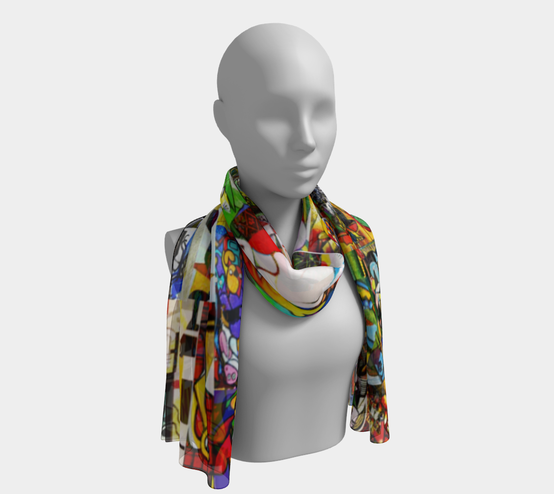 Picasso Montage scarf preview