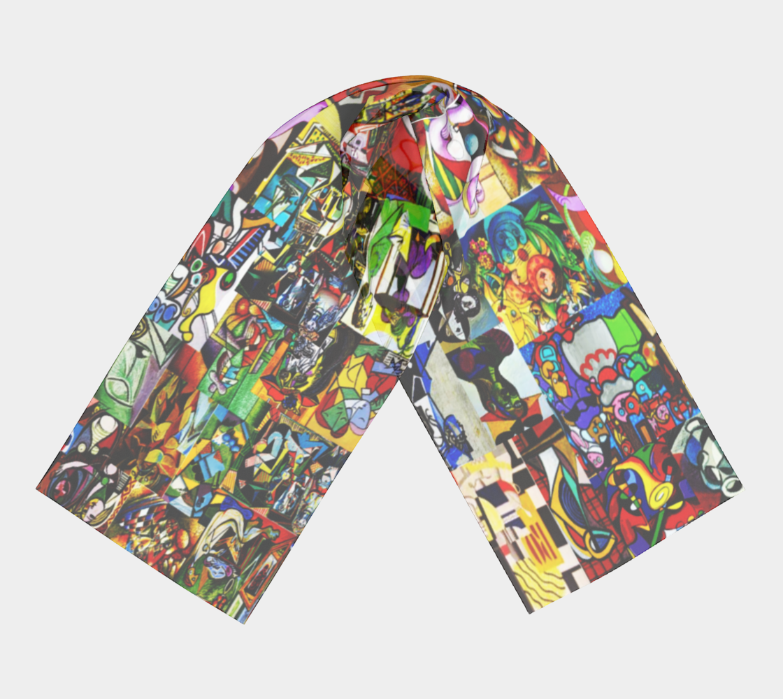 Picasso Montage scarf preview #3
