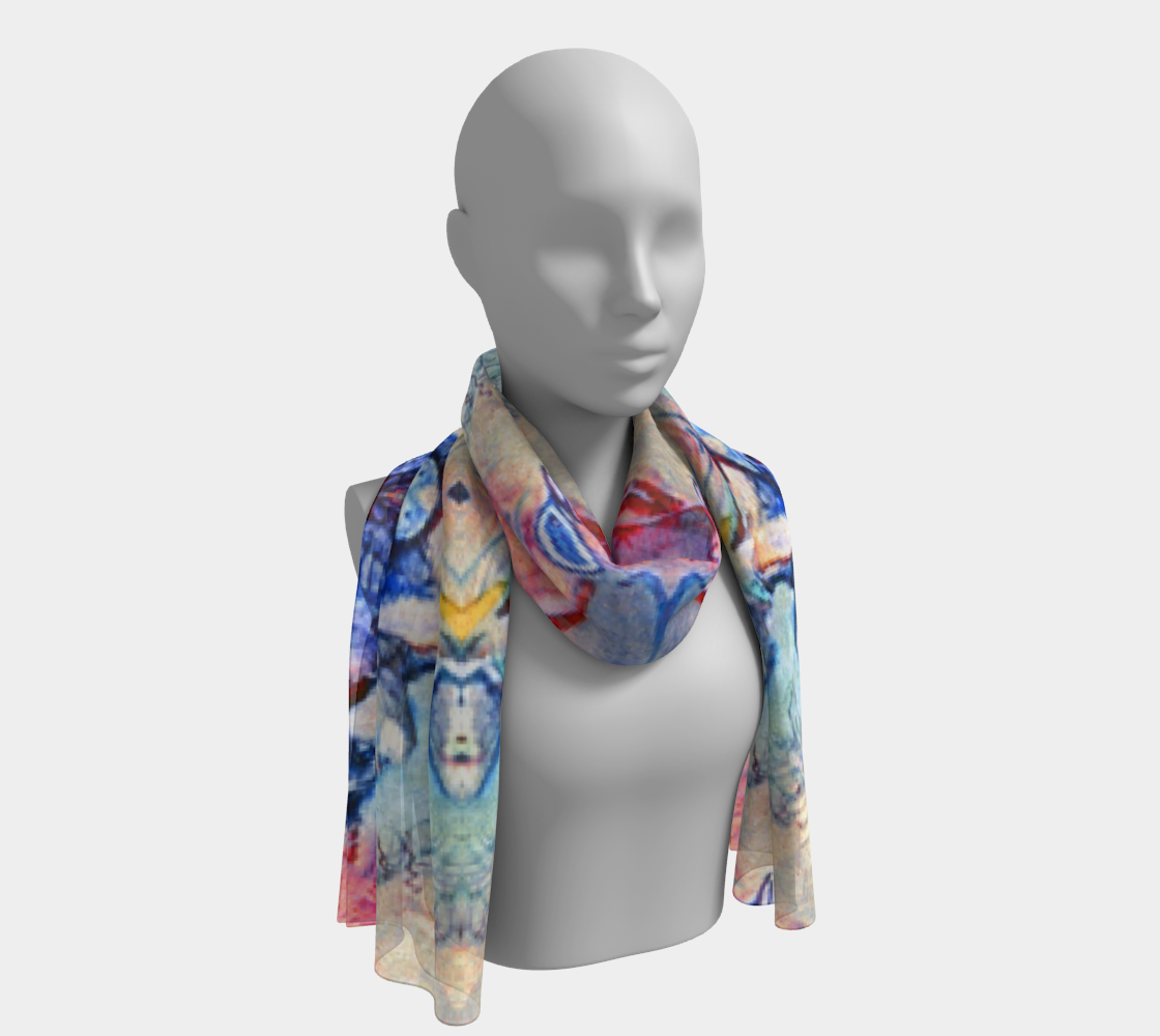 Devin Fine-Art Blessing-Print Long Scarf preview