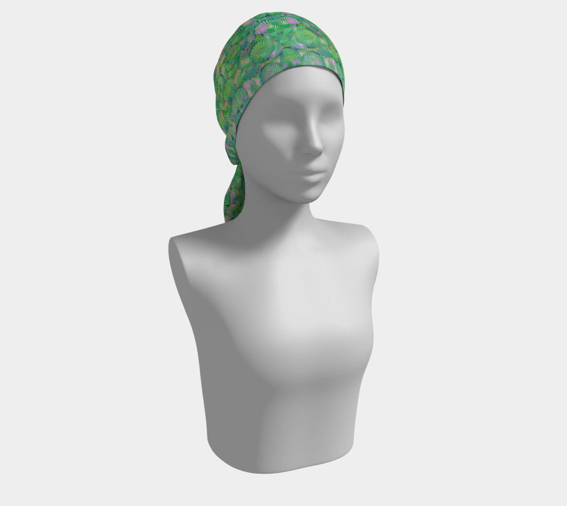 Green Mermaid Scale Scarf preview #2
