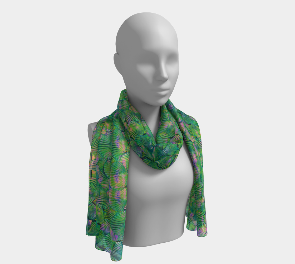 Green Mermaid Scale Scarf preview