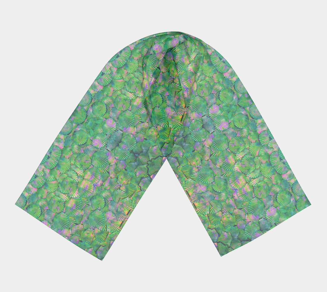 Green Mermaid Scale Scarf preview #3