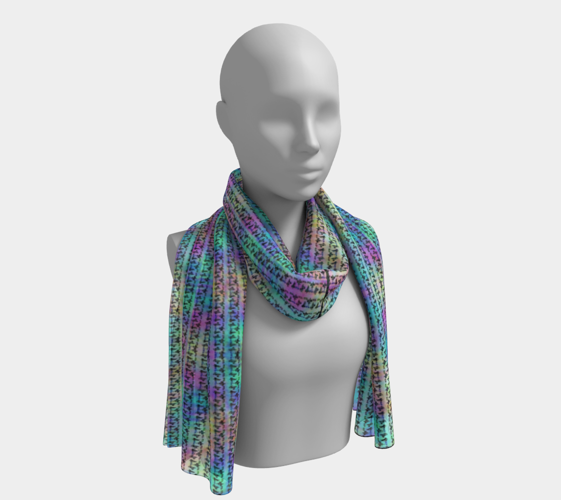 Surrealpete Shoppers silkscarf preview