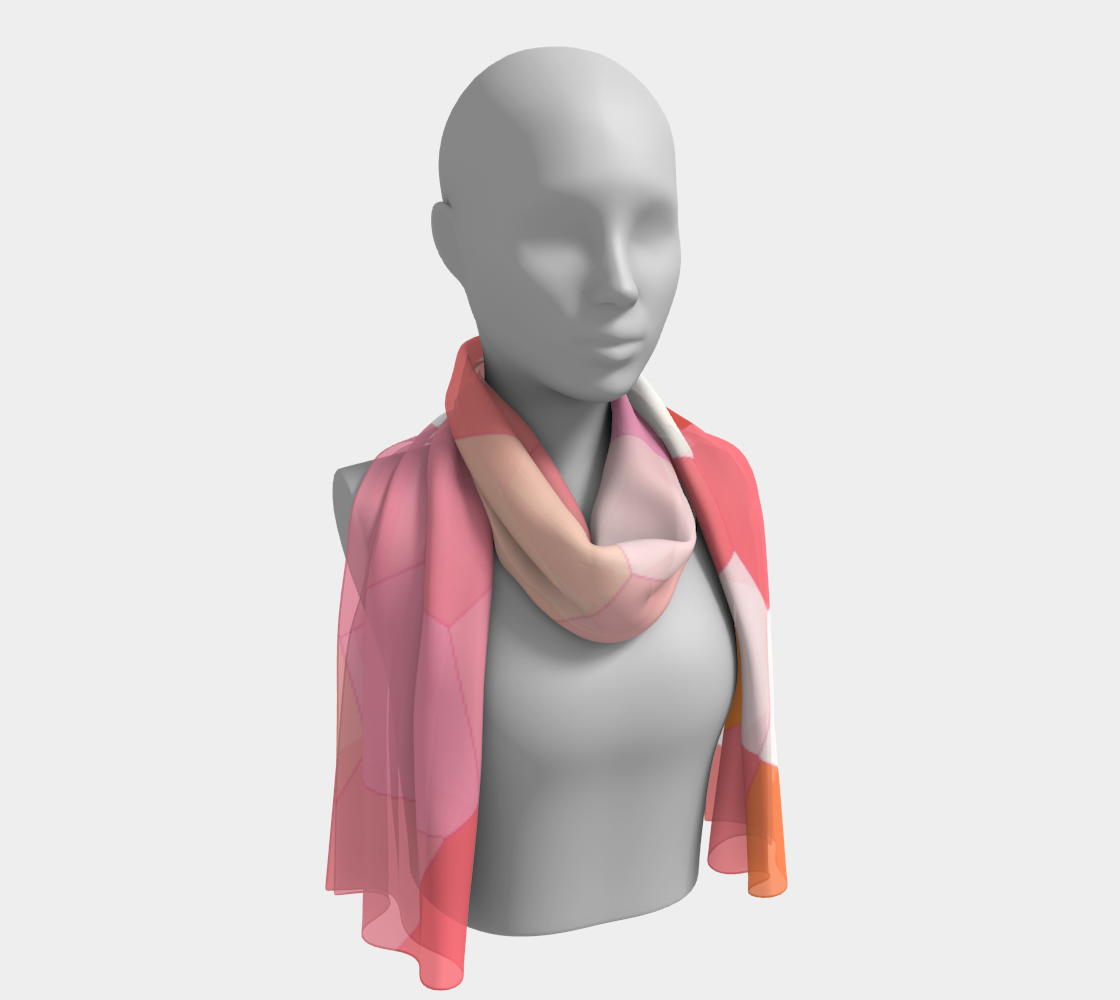 Mosaic Rose Pattern Long Scarf preview