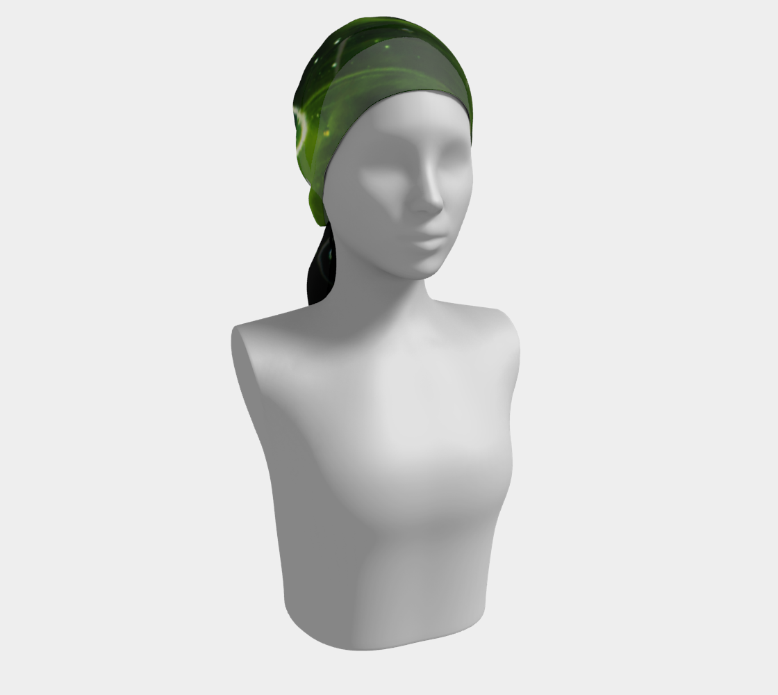 Green Algae and Water Long Scarf preview #2
