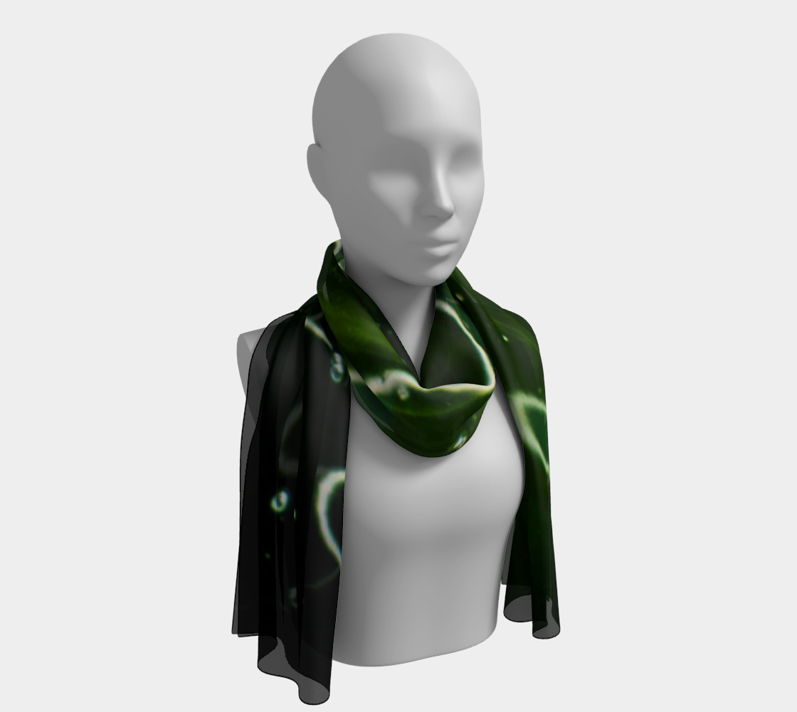 Green Algae and Water Long Scarf preview