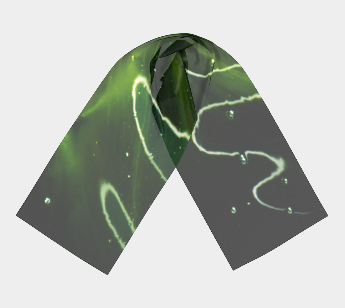 Green Algae and Water Long Scarf preview #3