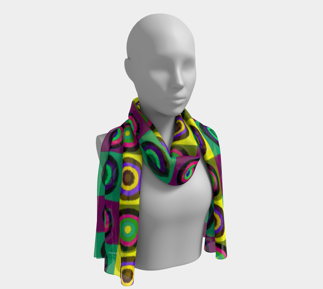 """Psych My Mind Yellow Dominant"" Scarf preview"