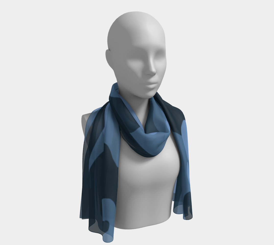 Blue Camo Long Scarf preview