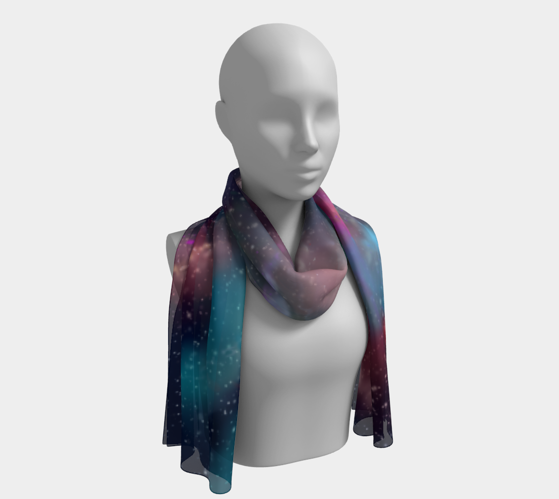 Aperçu de Rainbow Galaxy Long Scarf #1