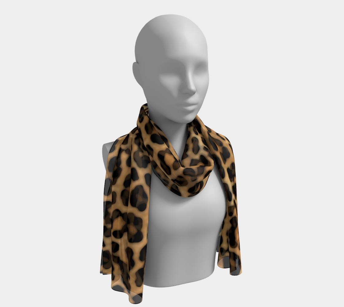 Aperçu de Leopard Print Fur Spots Pattern Scarf