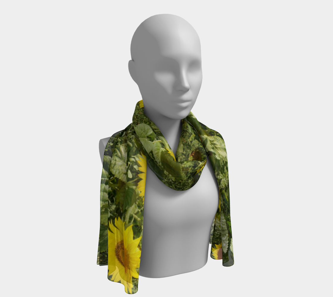 Sunflower and Greenery Scarf preview