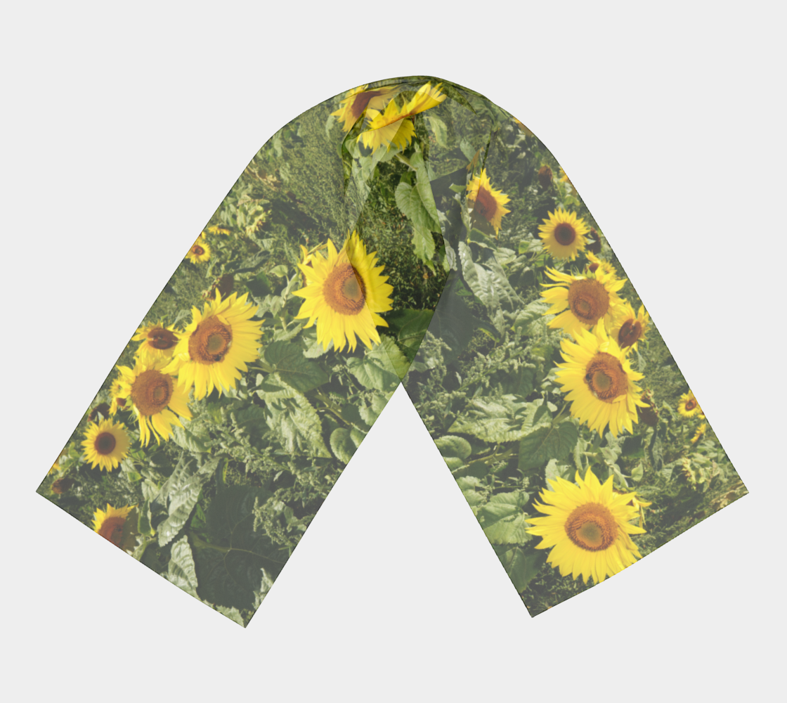 Sunflower and Greenery Scarf preview #3